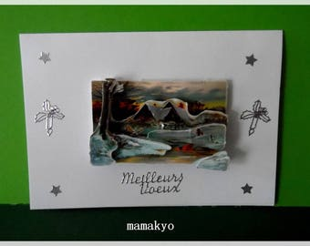 "3D greeting card ""winter landscape"""