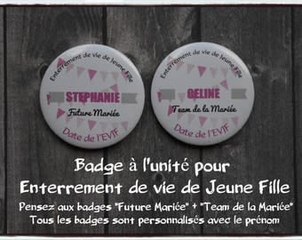 Badges 56mm individually for bachelor party girl - Future bride - Team bride - bachelorette party - wedding