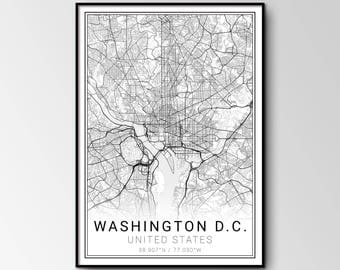Washington D.C. city map