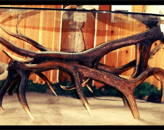 Coffee Table Elk Antler Furniture Rustic Furniture Coffee Table Antler  Decor Shabby Chic Decor Real Antlers
