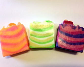 3 Mini Soaps -  Handmade Natural Artisan Soap