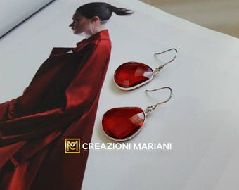 Earrings in Argento925 and crystals