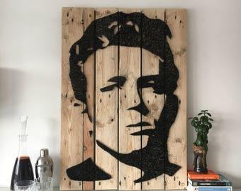 James Dean - Portrait - String Art - Reclaimed Pallet Wood Wall Art - Handmade - PopArt
