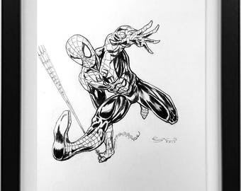 Spiderman Ink drawing