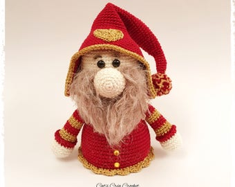 Amigurumi - blanket - the little Christmas Gnome, model Croc's Betty Megno