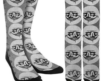 Troll Face Crew Socks - Trolling - Memes - Unique Socks - Novelty Socks - Funny Socks - Crazy Socks - 100% Comfort - FREE Shipping