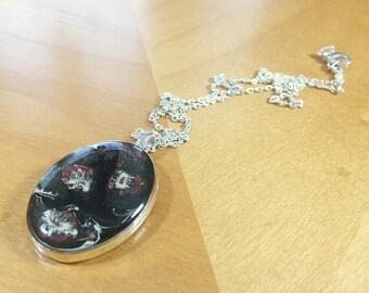 Black Pebeo Resin Pendant Necklace