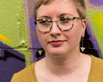 Aventurine Triangle Earrings