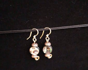Beautifully swirl colored dangle earrings