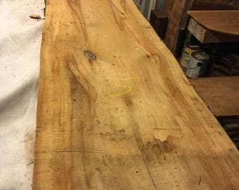 "Beautiful Large Sycamore Slab Aprox 109"" x 18"" - 15.5"" x .75"""