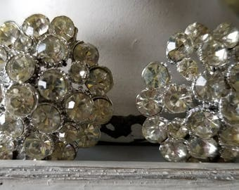 Two Large Rhinestone Buttons