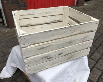 Shabby chic vintage crate