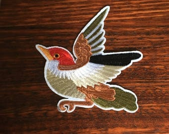 Flying Sparrow - Iron on Appliqué Patch
