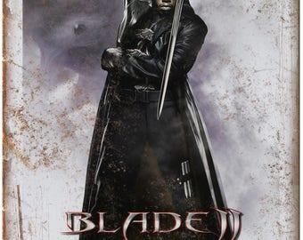 "10"" x 7"" Metal Sign Blade 2 Wesley Snipes Vintage Look Reproduction"
