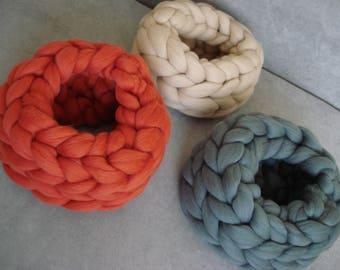 Chunky Knit Scarf, Merino wool Scarf, Super thick Scarf, Arm knit Scarf, Thick Scarf, , Wool Scarf, Chunky wool scarf