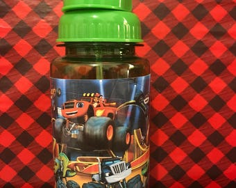 Blaze and the Monster Machines Water Bottle, Personalized Water Bottle, Kids Water Bottles, Beach Water Bottles, Pop up straws