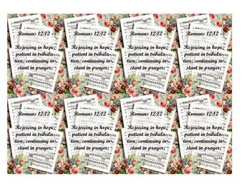 Scripture Cards Romans 12- instant download
