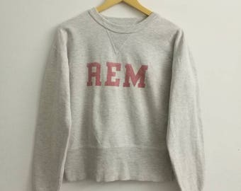 Rare!! REM Sweatshirt Crewneck Jumper Untag