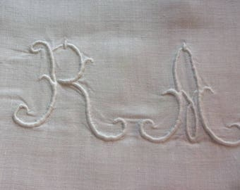 LARGE monogram. RA