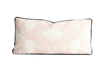Schumacher Garden of Persia in Blush Conch / Decorative Pillow Cover / Pink and White Pillow Cover