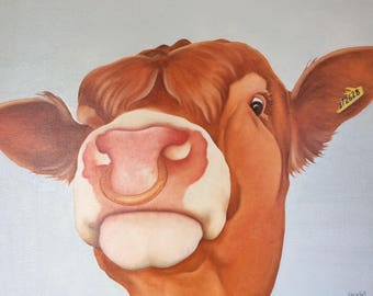 "limousin bull painting ""Johnny"""