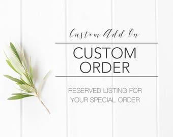 ADD ON Custom Design Order