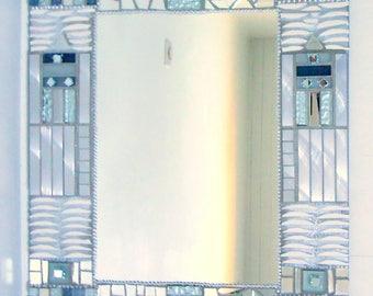 "Mosaic mirror ""Inuit"" 45 x 58 cm"