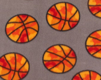 Basketball Camo Fleece Tied Blanket