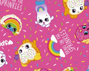 Shopkins Bring On The Sprinkles Printed Fleece Tied Blanket