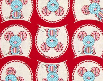 fabric patchwork red child Windham fabric toy tales
