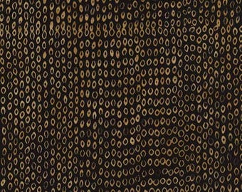 coupon Tonga batik black and Tan collection Chai patchwork fabric
