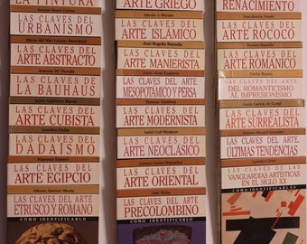 Las Claves del Arte: Collection of 29 Paperback Art History Books (Spanish)