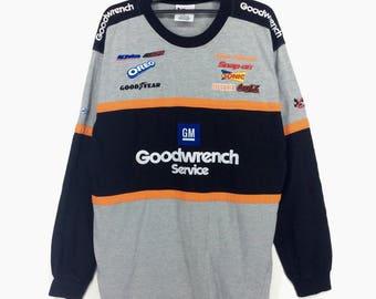 Nascar Shirt Long Sleeve Formula 1 Grand Prix Formula Circuit Goods Block Color Retro Fashion Rap Tees Hip Hop Swag