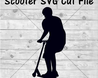 Stunt Scooter SVG Cut File