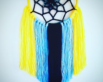 Dream catcher blue and Navy blue yellow