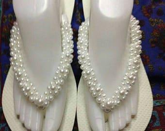 Bridal or Wedding-hand-customised women's havaianas