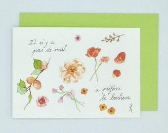 "Map double watercolor ""Herbarium"""