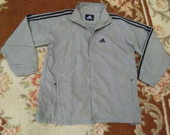 vintage adidas jacket embroidered size L