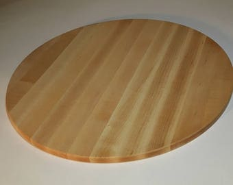 17 Inch Round Pizza Board, in Maple