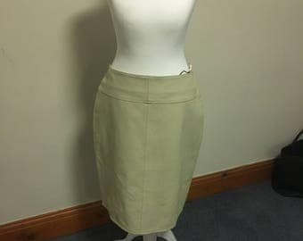 White leather skirt size 10/12