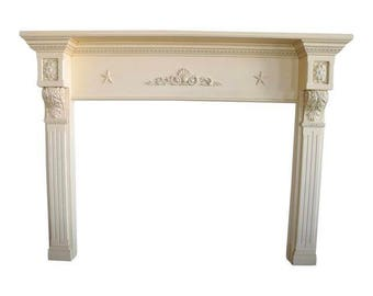 Federal Style Fireplace Mantel, Fireplace Mantel, Vintage Fireplace, Repurposed Fireplace
