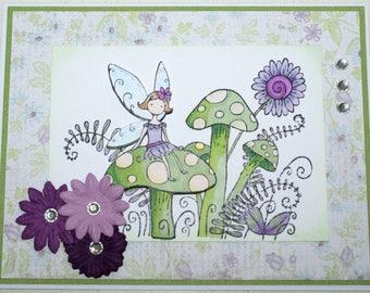 Handmade 3D Fairy Card