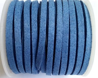 1 m blue 3mm suede cord
