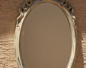 Shabby Chic Mirror, Distressed Mirror, Decorative Mirror, Vanity Mirror, Upcycled Mirror
