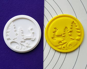 Deer in the Forest Cookie Cutter and Stamp