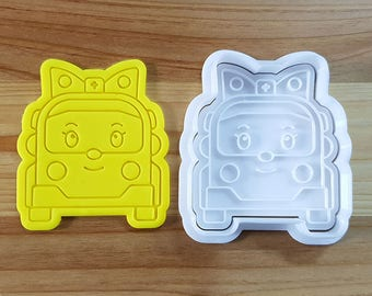 Robocar Poly - Amber Cookie Cutter and Stamp