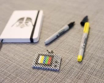 Television Pin - Perler Bead