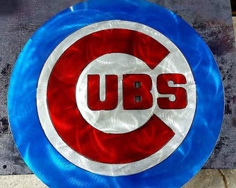 Chicago Cubs Metal Sign