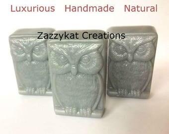 Owl Soap / Owl Bar Soap / Man Soap / Manly Soap / Decorative Soap / Soap For Men / All Natural Soap / Natural Soap / Rustic Soap