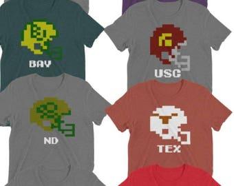 Tecmo Super Bowl - College Helmet Shirts